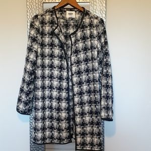 Old Navy Wool Blend Houndstooth Coa-SZ M